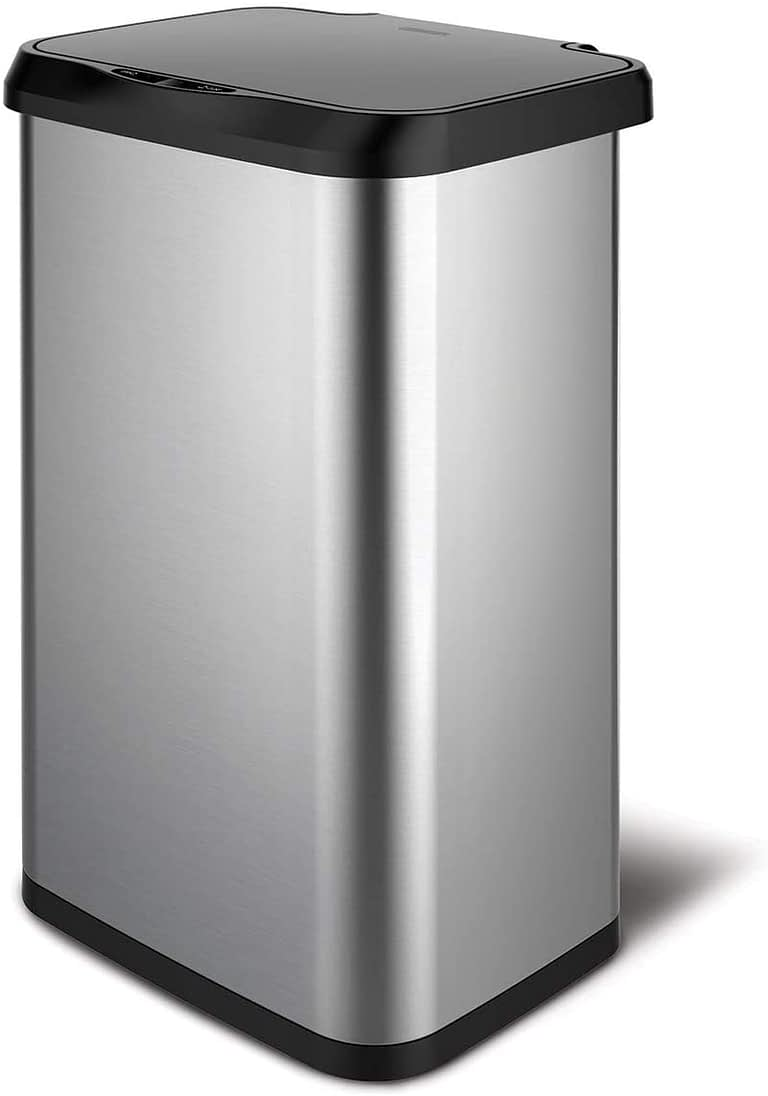 Glad Stainless Steel Sensor Trash Can with Clorox Odor Protection