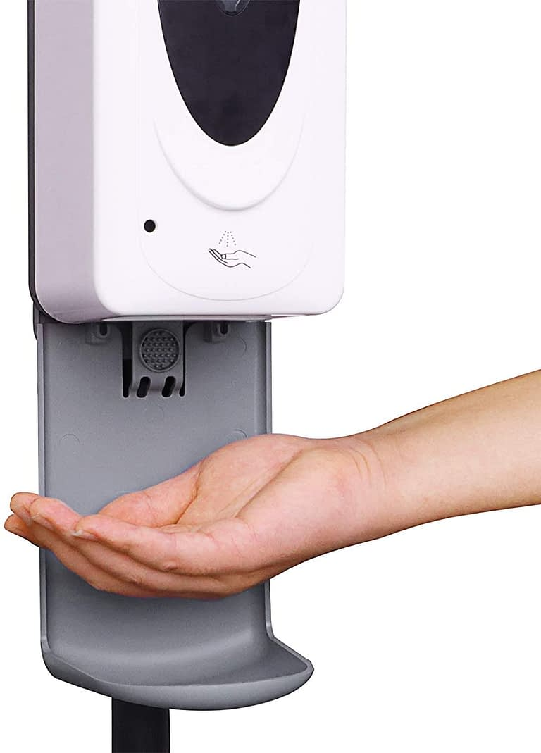 Automatic Hand Sanitizer Dispenser with Steel Stand Touchless Hand Sanitizer Station and Drip Catcher