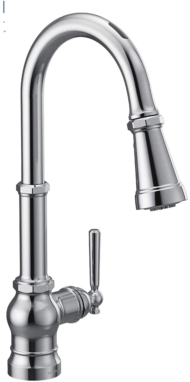 Moen S72003EVC Paterson U by Moen Smart Pulldown Kitchen Faucet with Voice Control and MotionSense